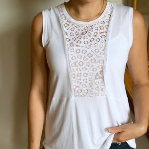 BCBG White Top Size Small